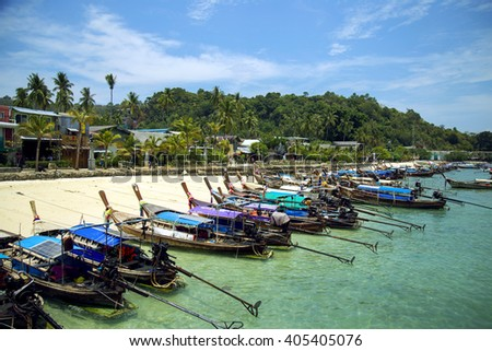 Boats at the beautiful beach, Thailand