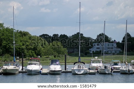 Boats in Dock - stock photo