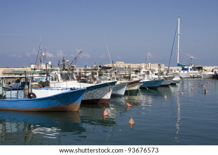boats in Jaffa port