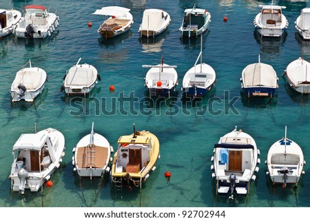 Boats in Marina of Dubrovnik, Croatia - stock photo