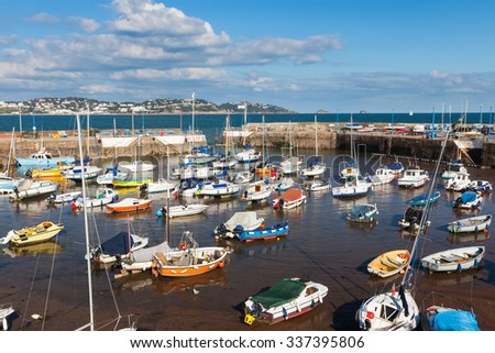 Boats in Paignton Harbour Devon England UK Europe