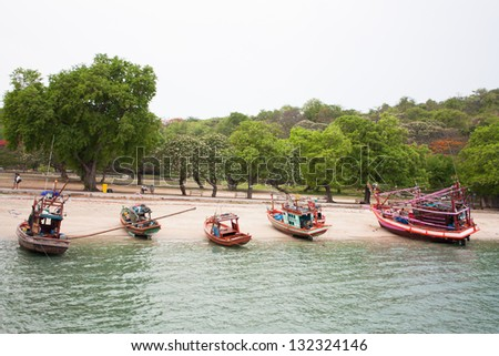 Boats in the beach