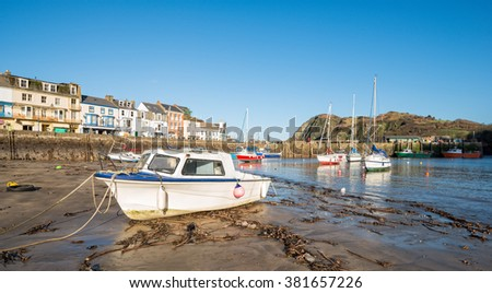 Boats in the harbour at Ilfracombe on the north coast of Devon