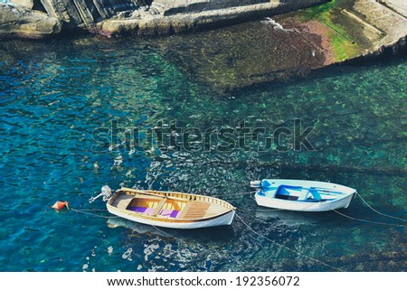 Boats in the sea - stock photo