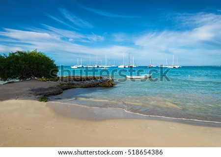 boats on caribbean sea, Dominican Republic
