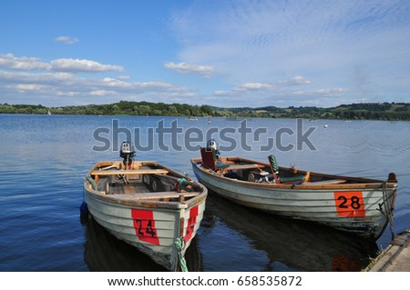 Boats on Chew valley lake