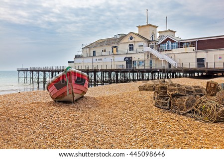 Boats on the Beach at Bognor Regis West Sussex England UK Europe