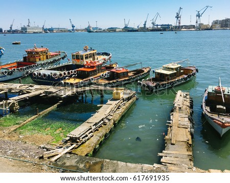 Boats suez canal port said egypt stock photo edit now shutterstock boats suez canal port said egypt publicscrutiny Gallery