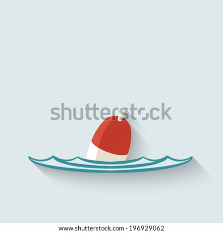 bobber fishing background - stock photo
