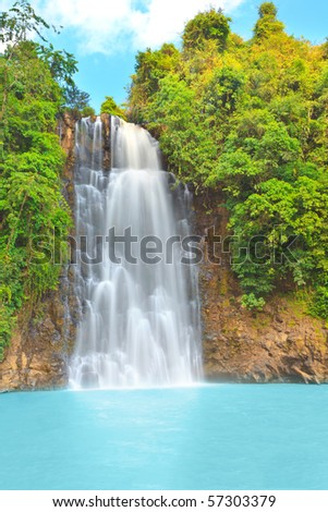 Bobla waterfall in central highland of Vietnam - stock photo