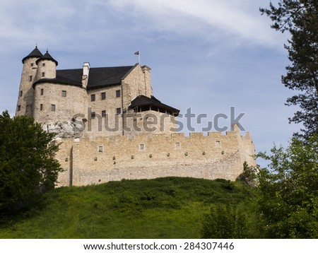 Bobolice knight's castle in Jura Cracow Czestochowa in Poland