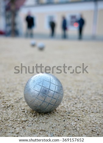 boccia boule - stock photo