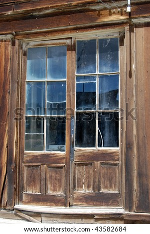 Bodie, California - ghost town - old doors - stock photo