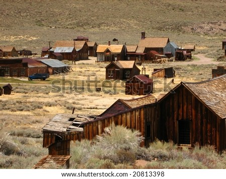 Bodie Ghost Town in California - stock photo