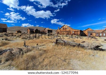 Bodie Ghost Town, Sierra Nevada, California - stock photo