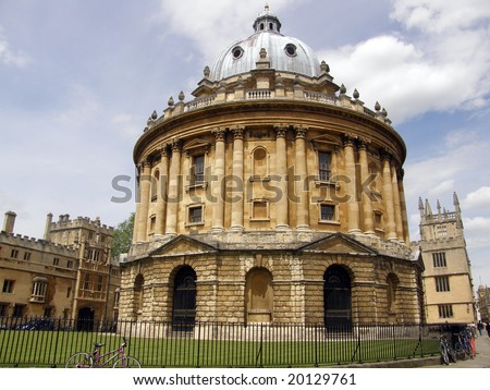 Bodleian Library and Radcliffe Camera - stock photo