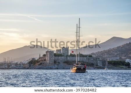 Bodrum Castle (Castle of St. Peter). Mugla, Turkey  - stock photo