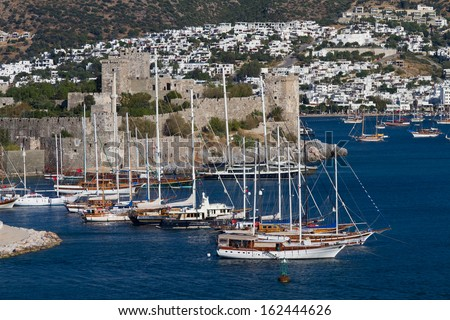 Bodrum Castle in Turkey - stock photo