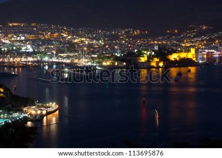 Bodrum Town from Mugla, Turkey - stock photo