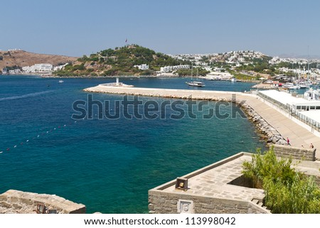 Bodrum Town from Mugla, Turkey - stock photo