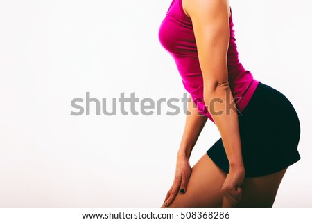 Body Beautiful athletic girl