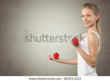Body Building, Exercising, Women. - stock photo