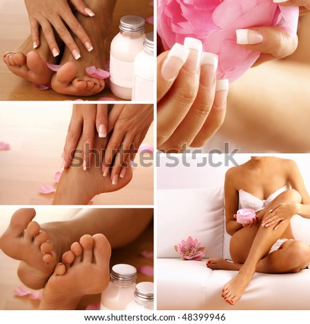body care collage - stock photo