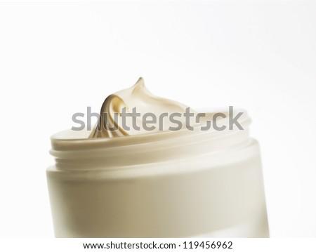 body cream on a white background - stock photo