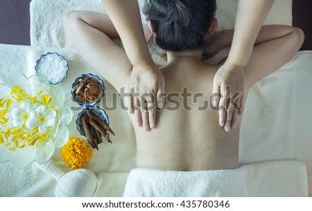 Body massage and spa - stock photo