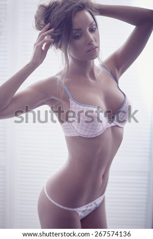 Body of sexy woman in  lingerie - stock photo