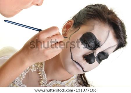 Body paint woman - stock photo