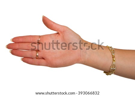body part  sign isolated on white background - stock photo