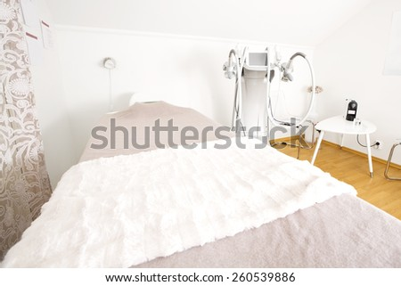 Body treatment clinic with advanced equipment - stock photo