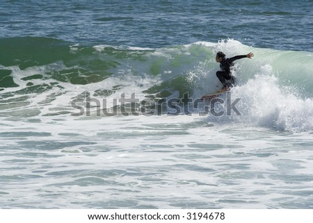 bodyboarder - stock photo