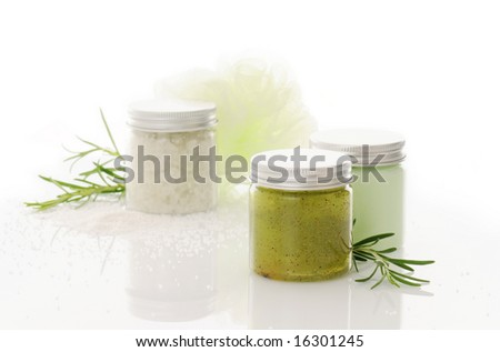 bodycare products - stock photo