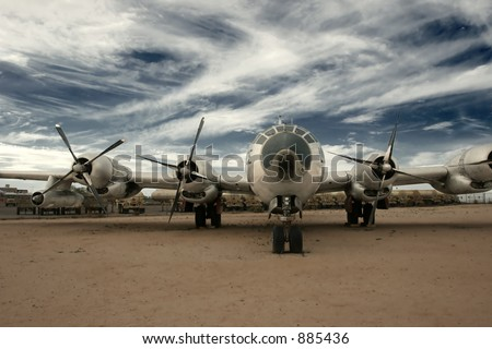 Boeing B29 Superfortress  (exclusive at shutterstock) - stock photo