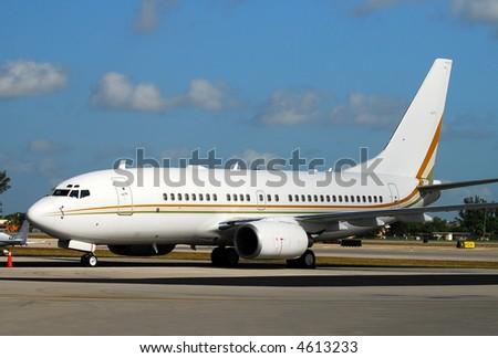 Boeing 737 passenger jet - stock photo