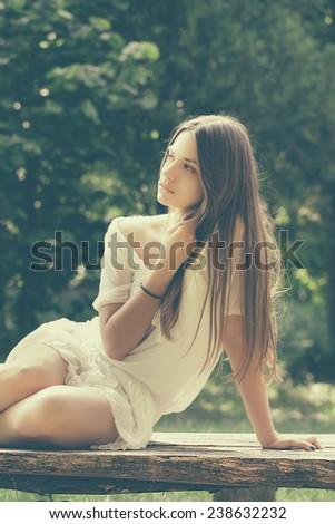 Bohemian Lady - stock photo