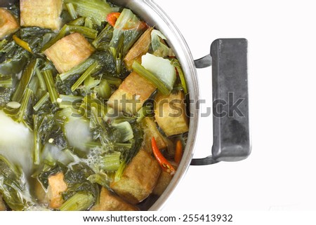 Boiled assorted vegetable food chinese. - stock photo