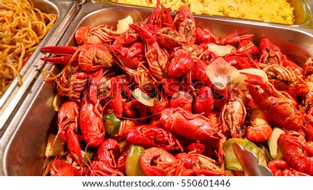 Boiled crawfish , great as a beer snacks