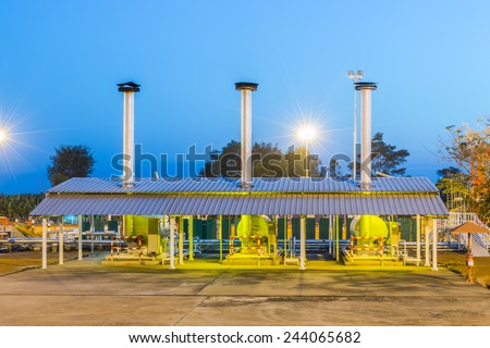 Boiler heat exchanger in process oil and gas - stock photo