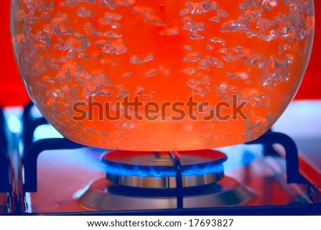 boiling liquid - stock photo