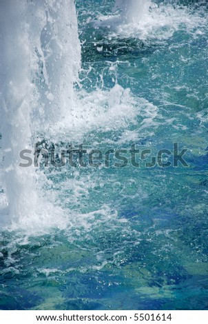 boiling up water of a cascade of a fountain - stock photo