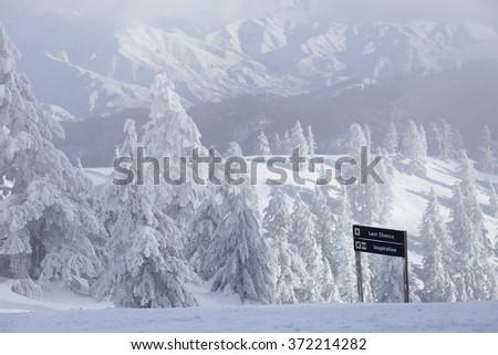 Boise, Idaho ski area - stock photo
