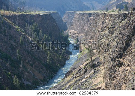 Boise River Canyon - stock photo