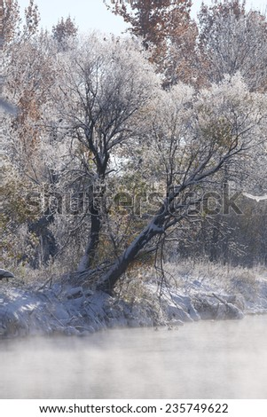 Boise River, Idaho - stock photo