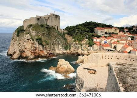 Bokar fortress, Dubrovnik - stock photo