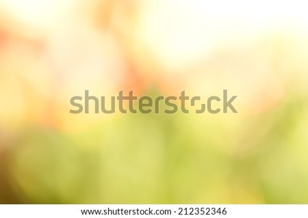 Boke on Smooth Pastel Abstract Gradient Background, green, yellow and beige colors - stock photo