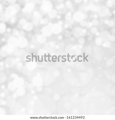 Bokeh Abstract Christmas background with glowing magic crystal  holiday lights, Light silver dimond color - stock photo