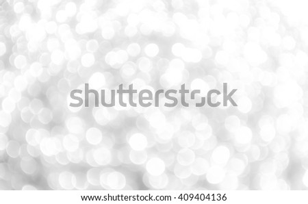 bokeh Abstract white lights on background - stock photo